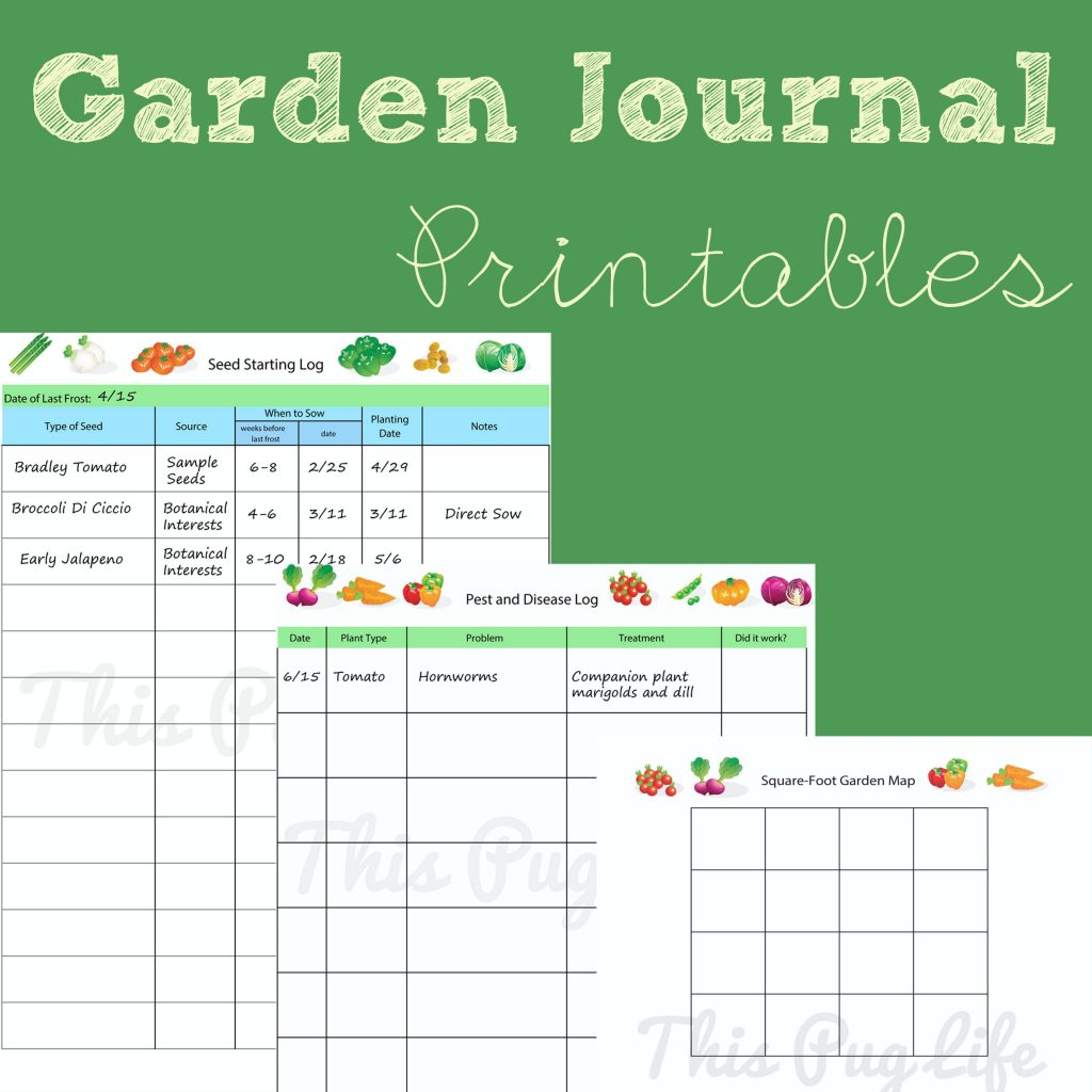 Garden Journal Printables Updated This Pug Life