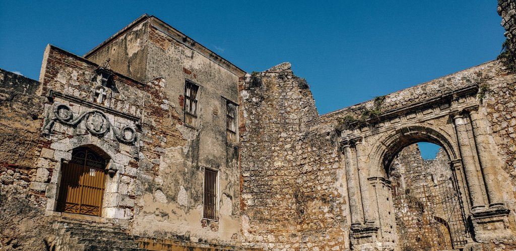 Ruins of first monastery in the Americas in Santo Domingo, Dominican Republic