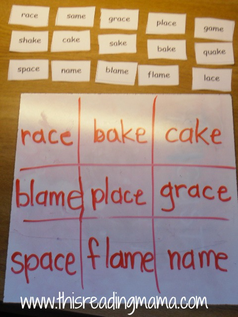 FUN with Word Patterns  a k a  phonics    This Reading Mama Word Wac Woe Game with word sort