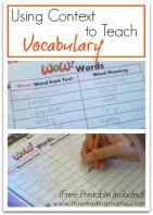 Vocabulary Word Chart