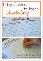 vocabulary collage
