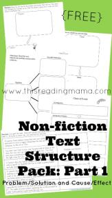 Nonfiction Text Structure Pack- Part 1