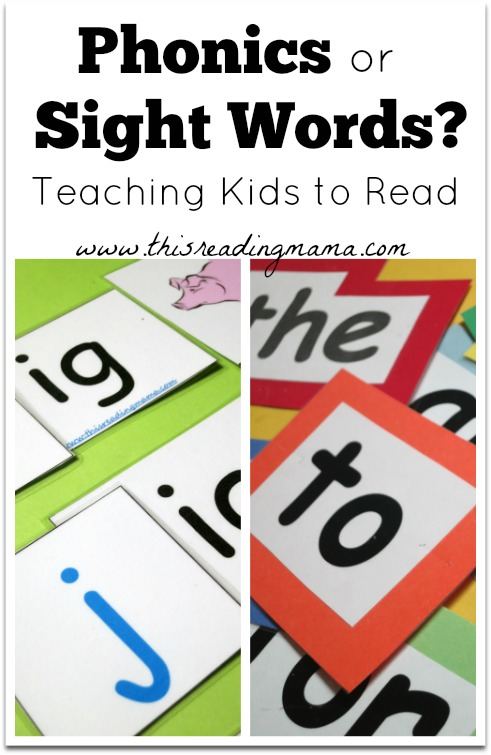 Phonics or Sight Words? Teaching Kids Read | This Reading Mama