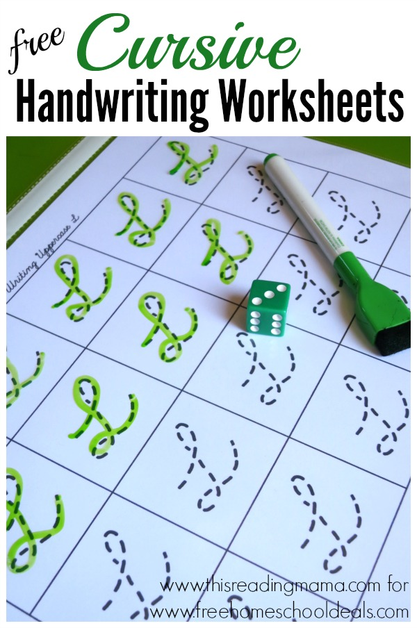 FREE CURSIVE HANDWRITING WORKSHEETS (instant download ...