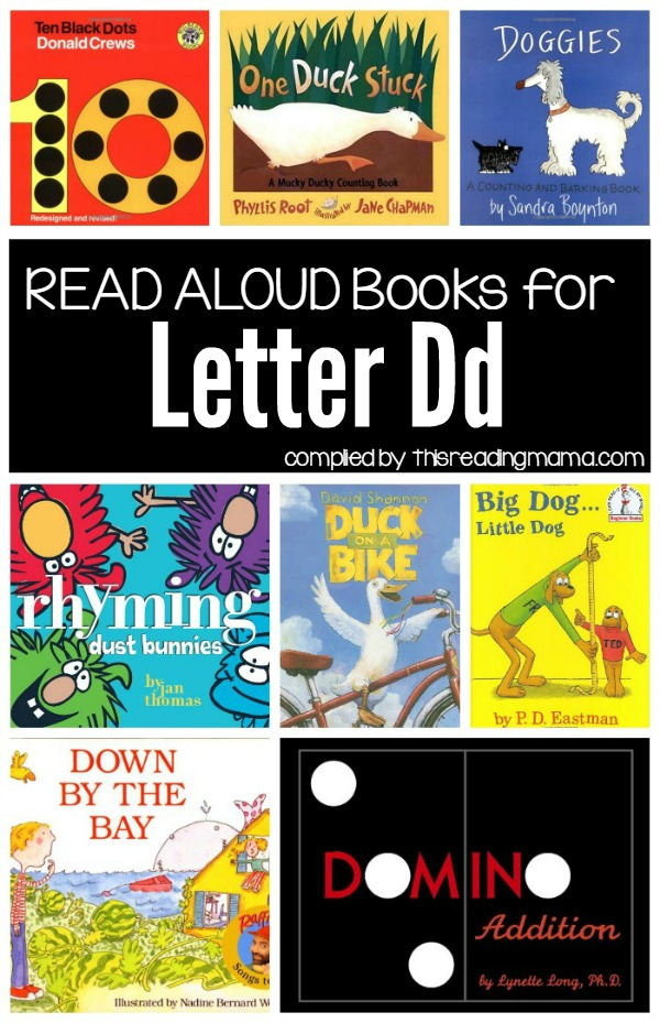 Letter D Books - Book List compiled by This Reading Mama