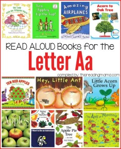 Read Aloud Books for the Letter A
