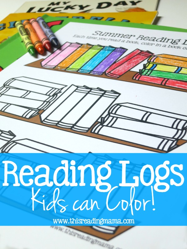 FREE Reading Logs Kids Can Color - This Reading Mama
