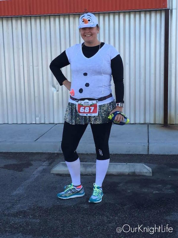 Olaf Running Costume