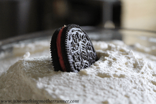 Peppermint Oreo Close Up