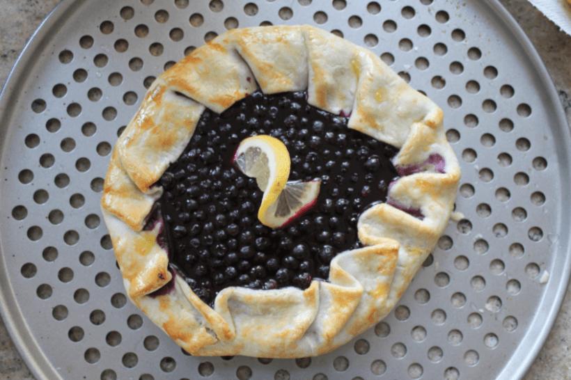 Finished Blueberry Lemon Galette
