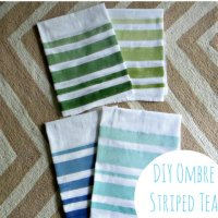 DIY Striped Tea Towels