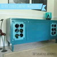{Furniture Fix-Up} Retro Stereo to Wine Buffet
