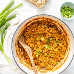 This One-Pot Vegan Hamburger Helper is 100 times tastier (and healthier) than the classic boxed dinner. Made with lentils for plenty of fiber and protein   ThisSavoryVegan.com #thissavoryvegan #vegan #hamburgerhelper