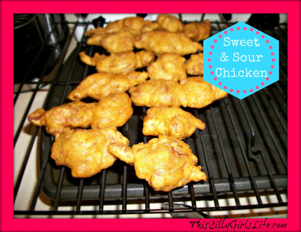 Sweet and Sour Chicken ThisSillyGirlsLife.com