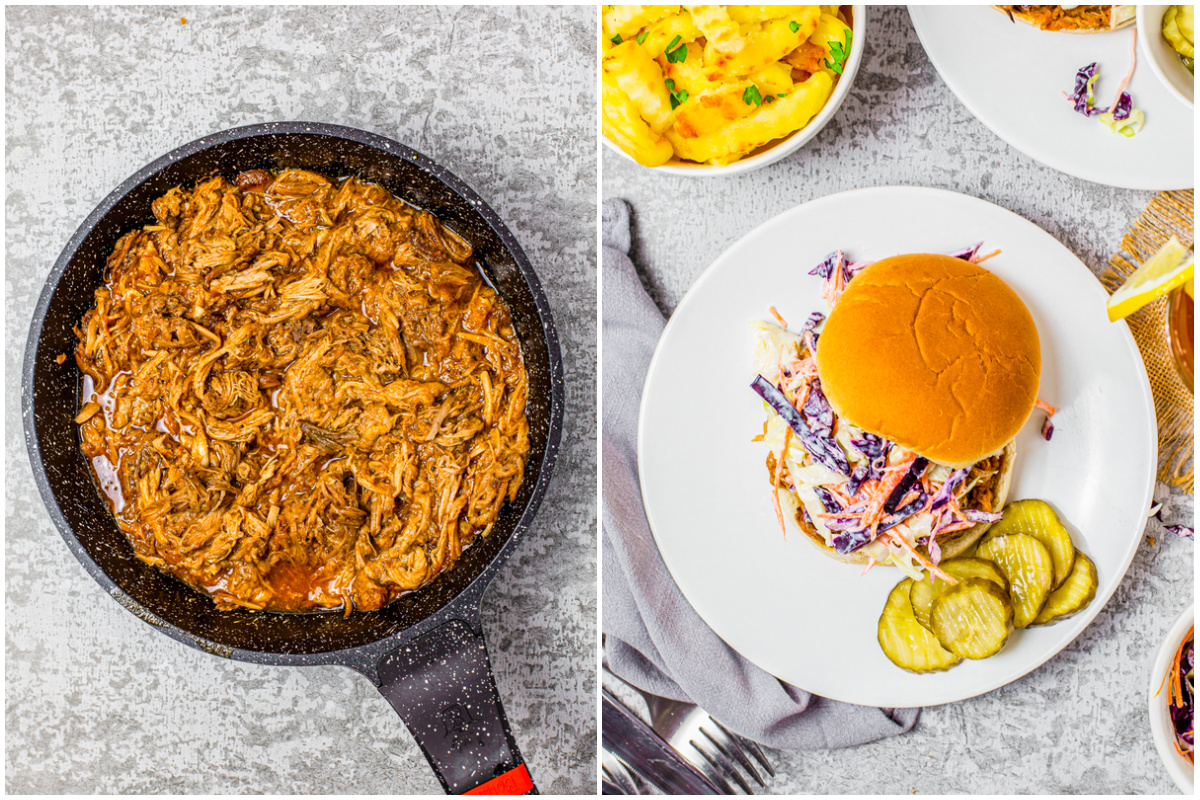 Step by step photos on how to make Crock Pot Pulled Pork Sandwiches