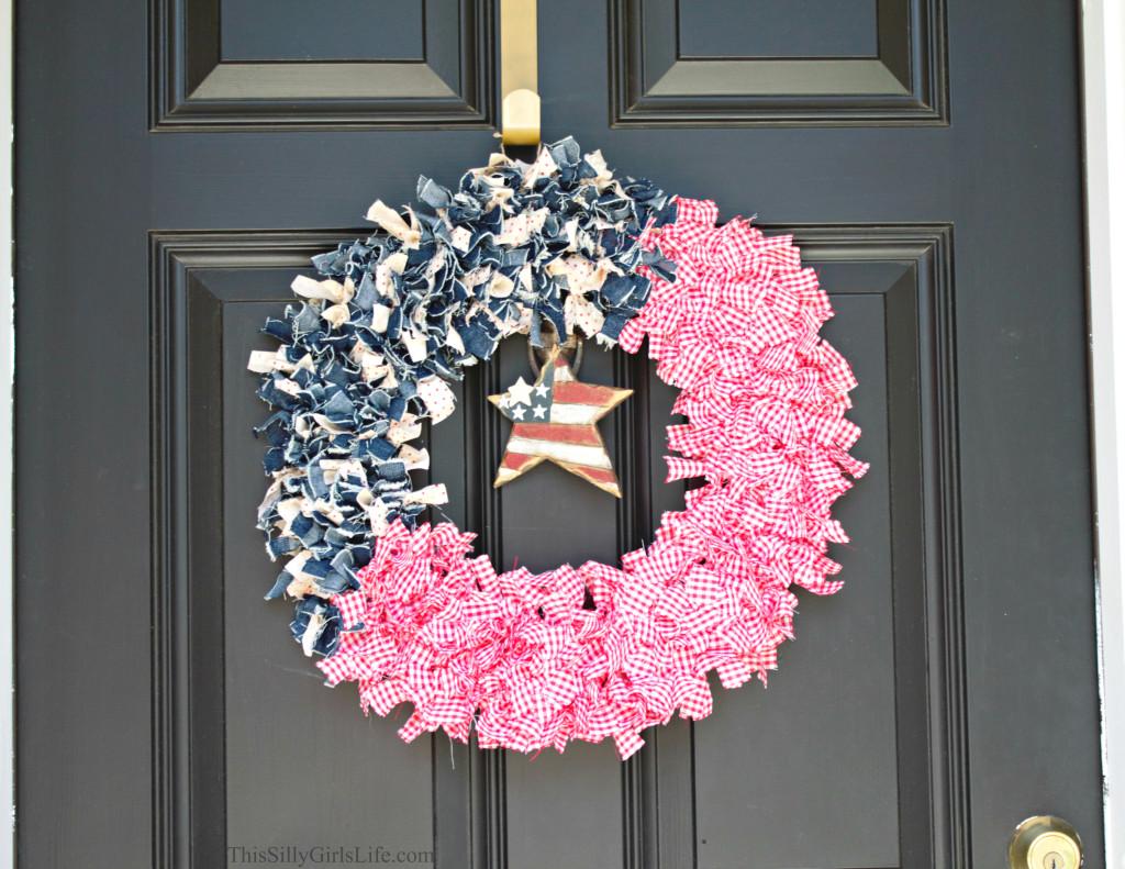 DIY Patriotic Fabric Wreath