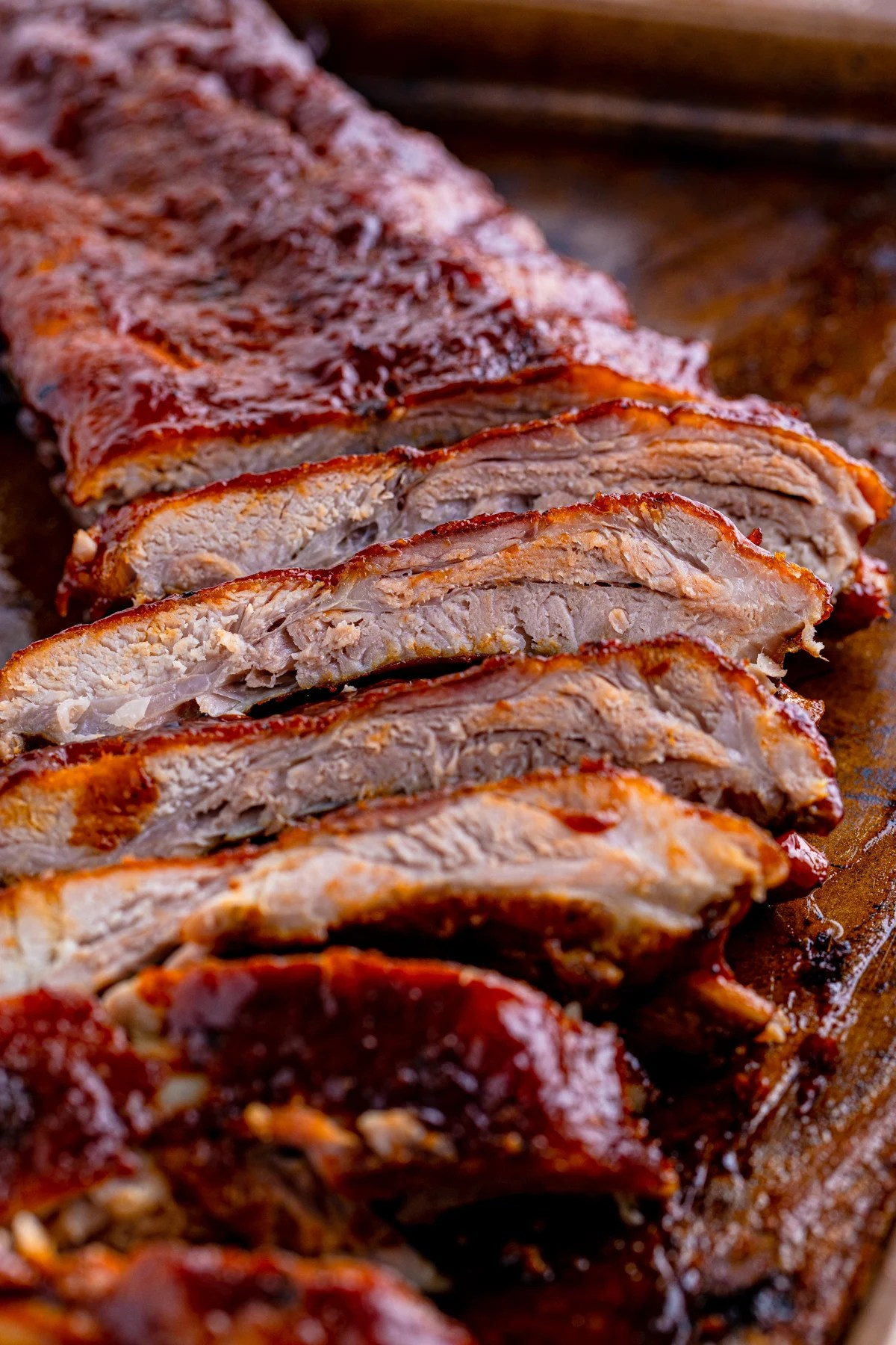 Sliced up ribs