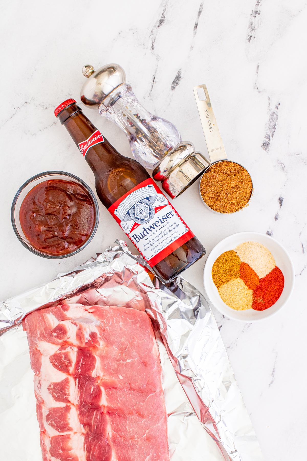 Ingredients needed to make this BBQ Rib Recipe