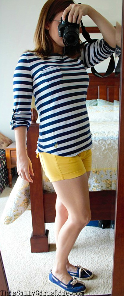 Casual Nautical Inspired Outfit from https://ThisSillyGirlsLife.com