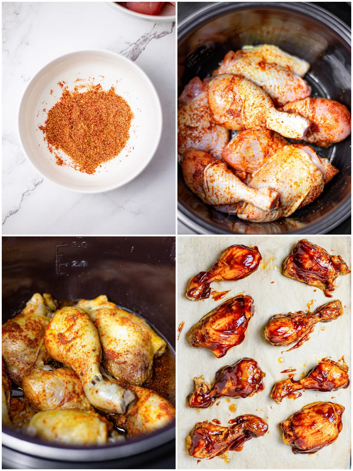 Step by step photos on how to make Slow Cooker BBQ Chicken