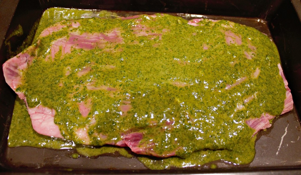 Cilantro-Lime Marinated Flank Steak with Homemade Chimichurri recipe from https://ThisSillyGirlsLife.com #FlankSteak #Chimichurri #Cilantro #Lime #Marinade