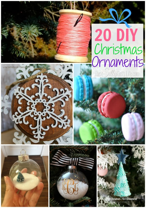 20 DIY Christmas Ornaments Round Up