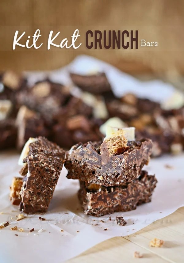 Kit Kat Crunch Bars, so simple with only three ingredients!