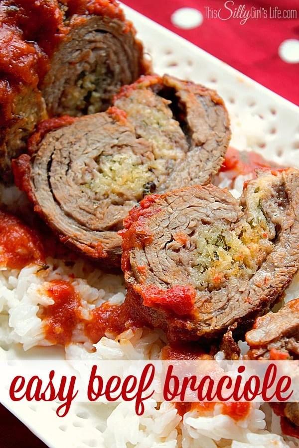 Easy Beef Braciole Recipe #CollectiveBias