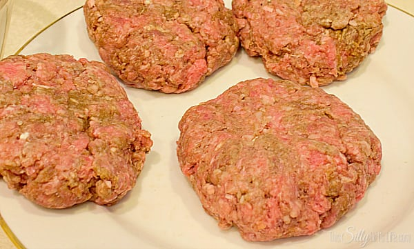 Flatten out into a patty so you can't see any of the cream cheese. Set aside or in the fridge until ready to grill.