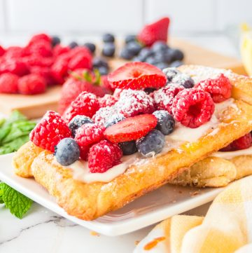 Square close up image of Berry Tart Recipe