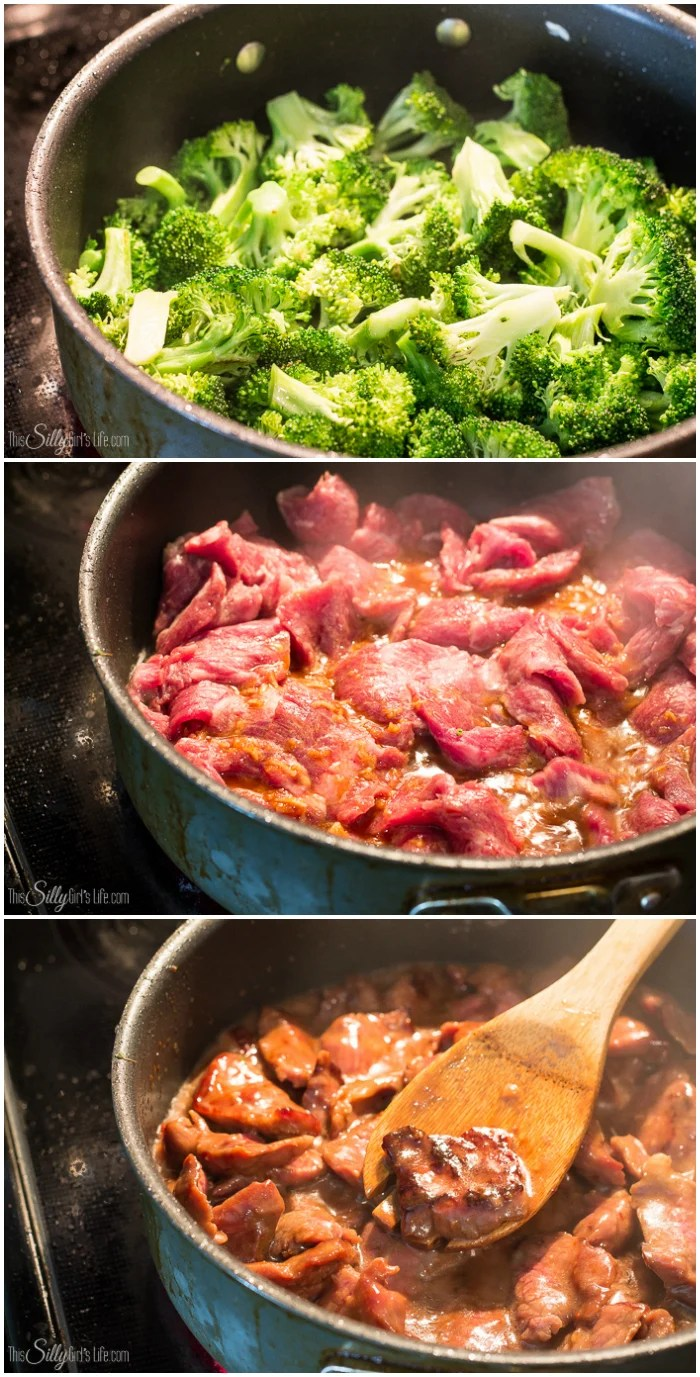 Step by step photos on how to make Beef and Broccoli