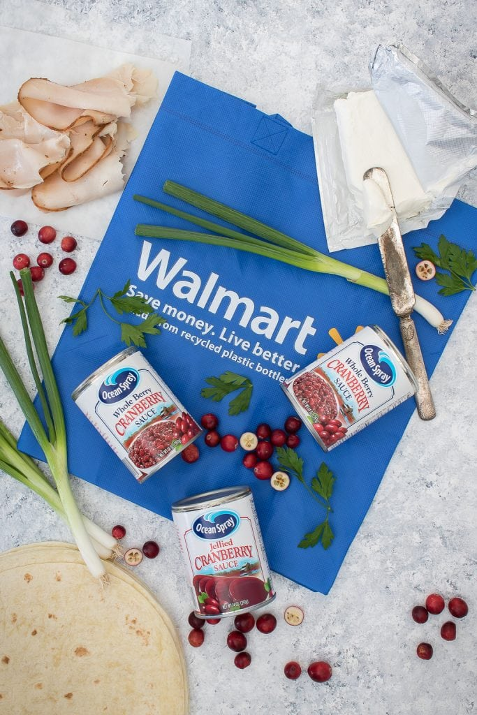 Ingredients needed to make Turkey Pinwheels Recipe