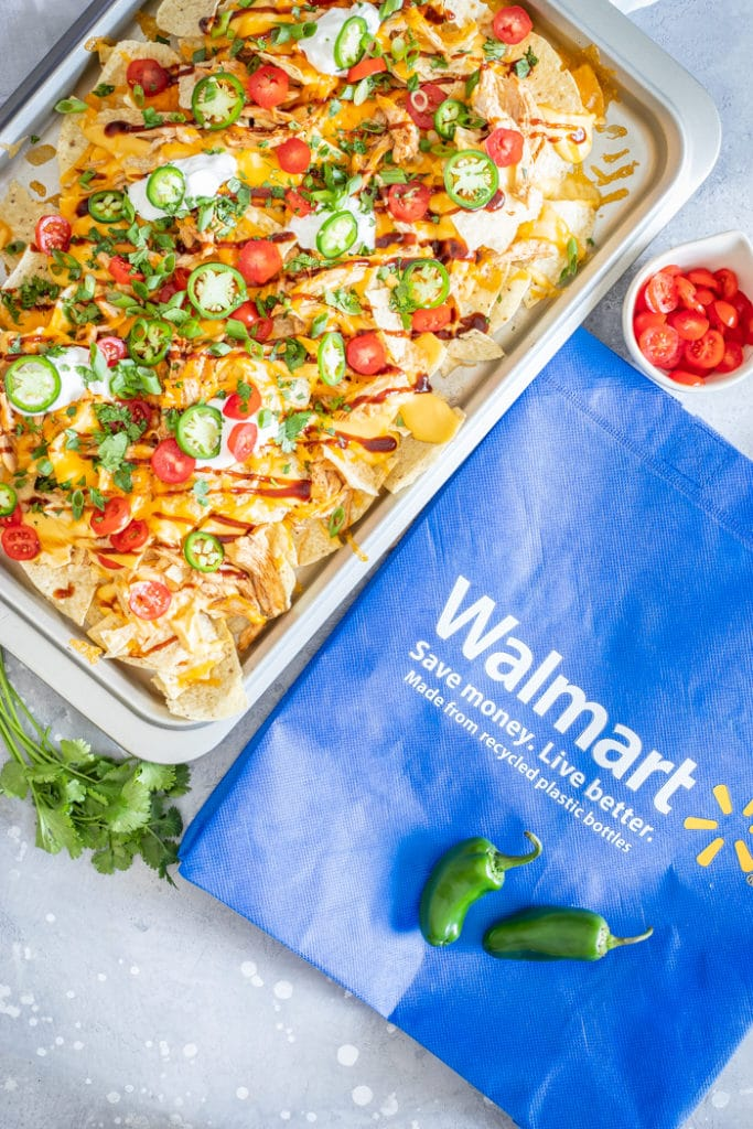 BBQ Chicken Nachos are the ultimate crave-worthy food! #recipe from thissillygirlskitchen.com #bbq #nachos #bbqchicken #bbqchickennachos