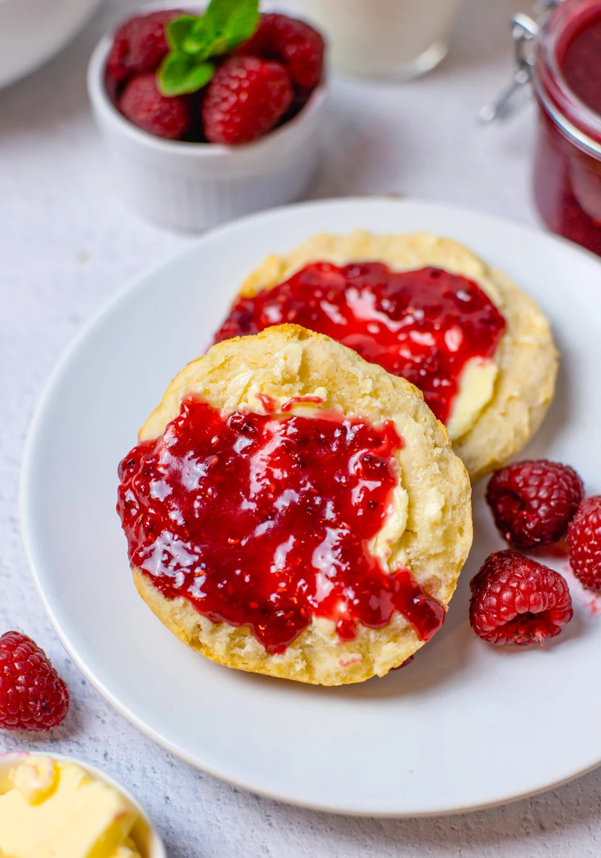 Biscuits spread with Raspberry Curd Recipe