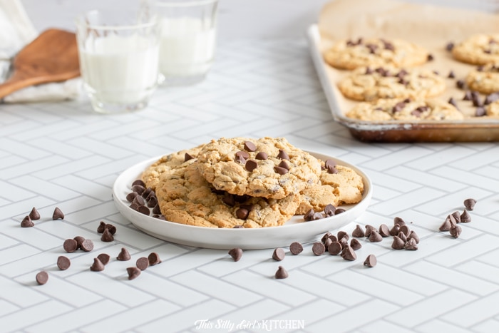 straight on shot cookies on a plate