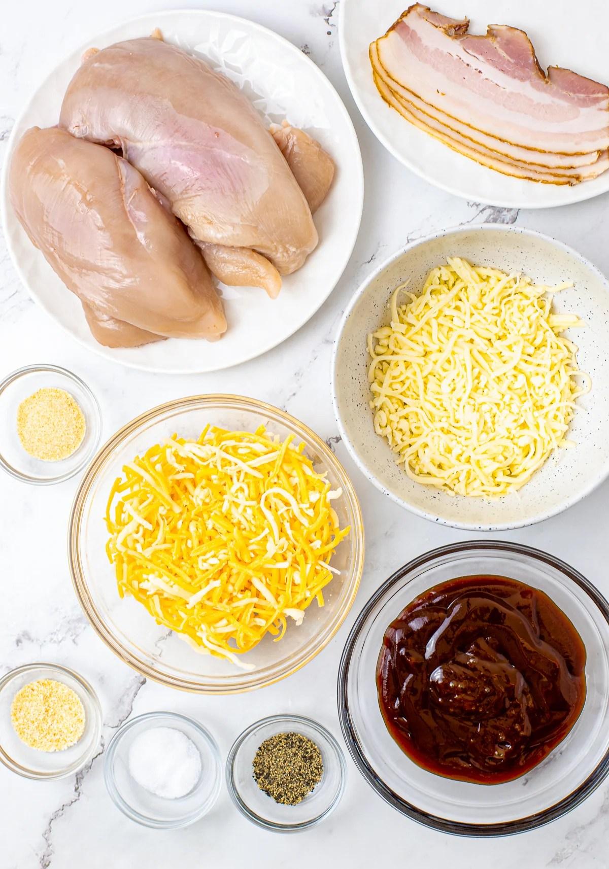 Ingredients needed to make Monterey Chicken