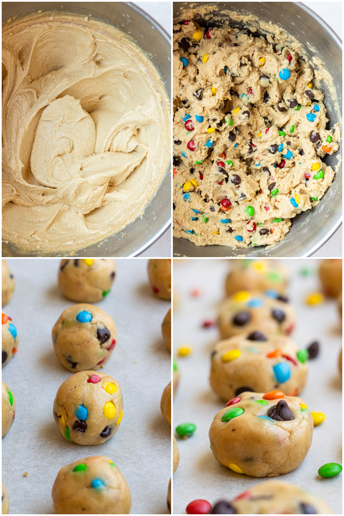 Step by step photos on how to make Chocolate Chip Peanut Butter Cookiese