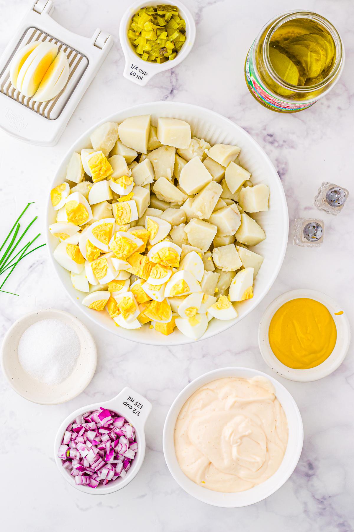 Ingredients needed to make Classic Potato Salad