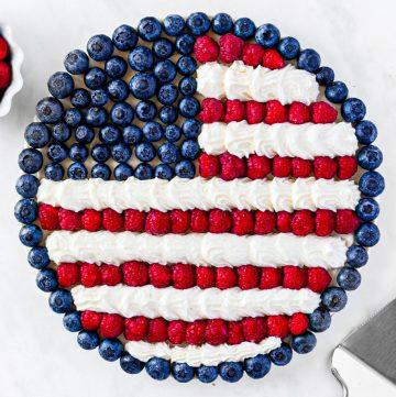 Finished Flag Fruit Pizza square image
