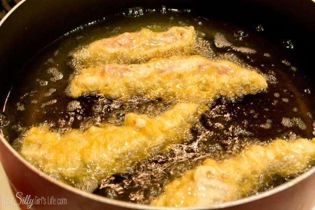 Homemade Chicken Tenders: Super crunchy outside and moist, tender chicken inside, serve with your favorite dipping sauce or by themselves... they're that good!