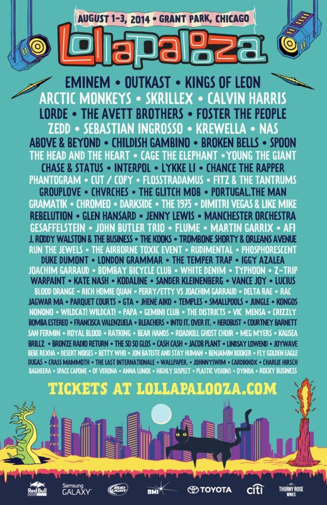 [BREAKING] Lollapalooza Rolls Out Massive 2014 Lineup