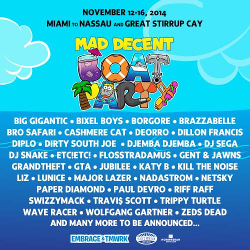 Diplo and Mad Decent Announce Mad Decent Boat Party Cruise With Massive Debut Lineup