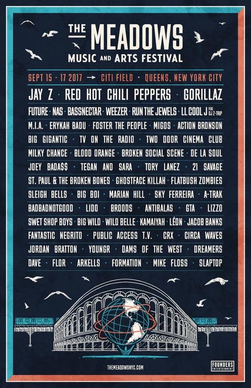 Meadows Festival Lineup 2017