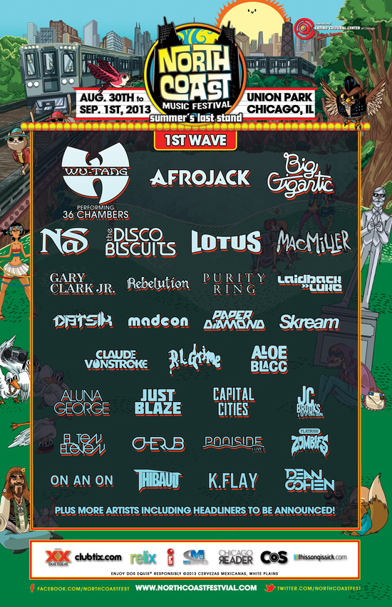North Coast Music Festival 2013 Lineup : Massive Diverse Lineup Ft. Wu-Tang Clan