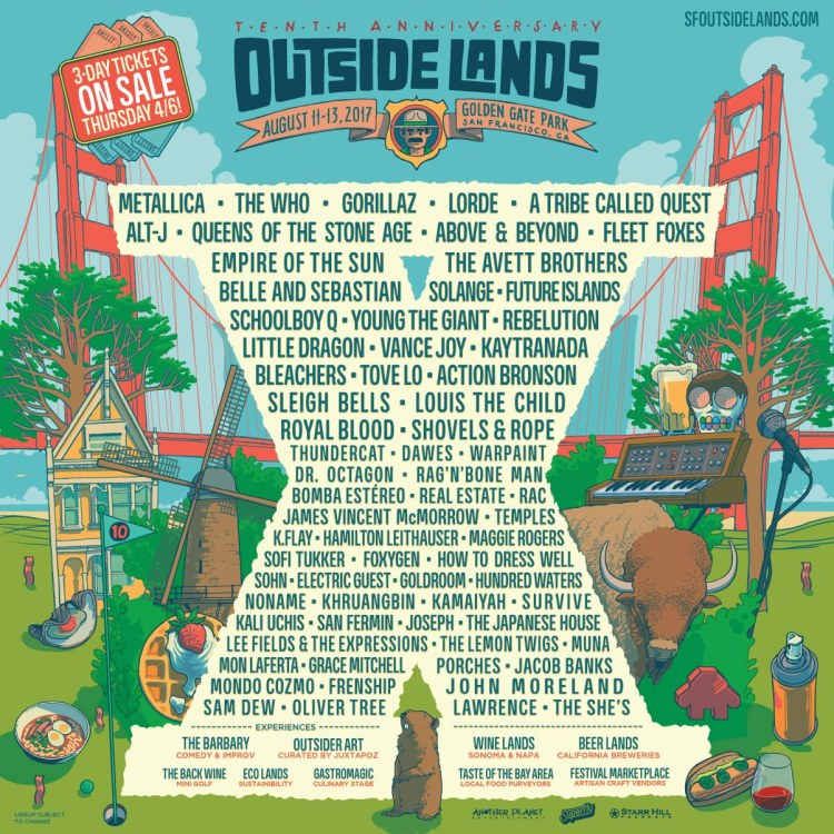 Outside lands poster