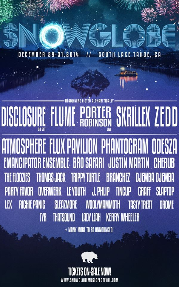 SnowGlobe 2014 Lineup Announced With Skrillex