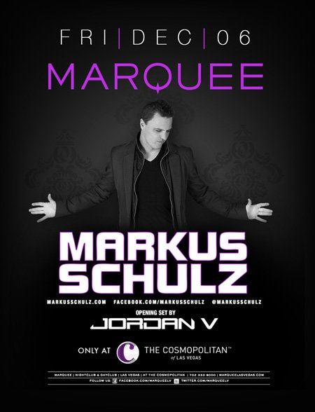 Win A 4 Person VIP Table with Bottle to Markus Schulz at Marquee Night Club in Las Vegas