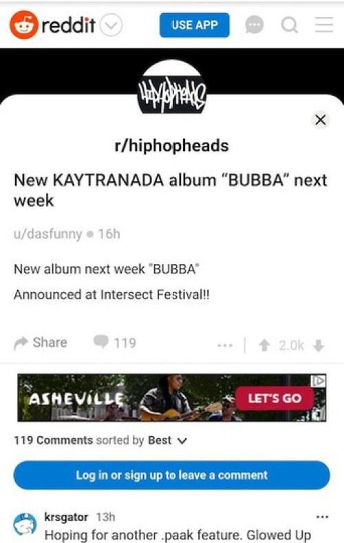 Kaytra BUBBA reddit announce