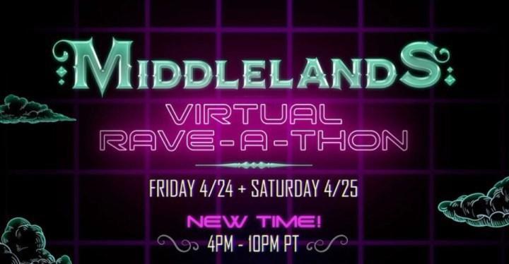 middlelands virtual rave a thon