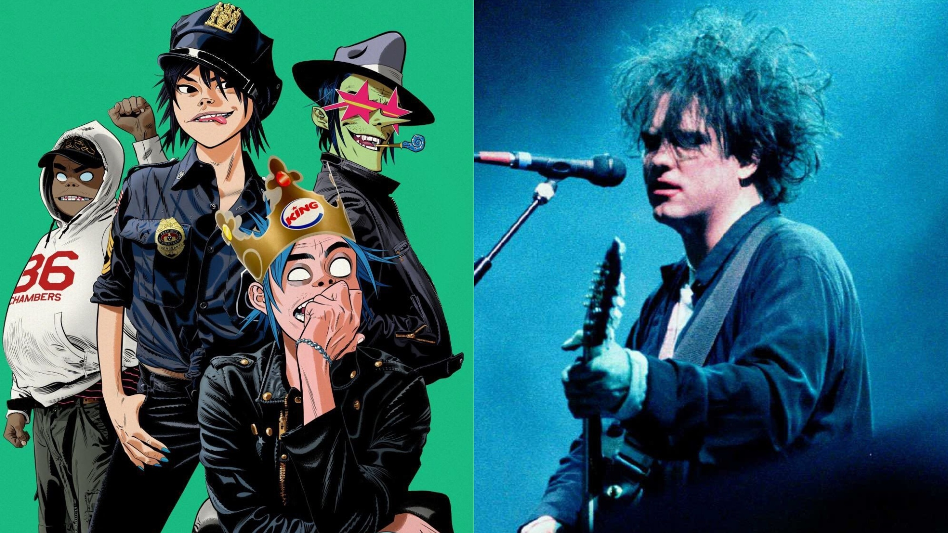 The Gorillaz team up with The Cure's Robert Smith